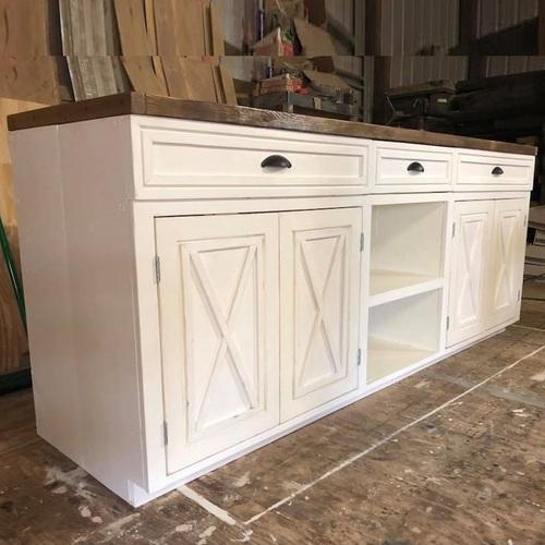 White And Natural Wood Shabby Chic Sideboard Rs 15000 Piece Id