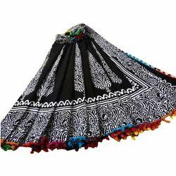 Wedding Wear Pompom Lace Cotton Saree, With Blouse, 5.5m