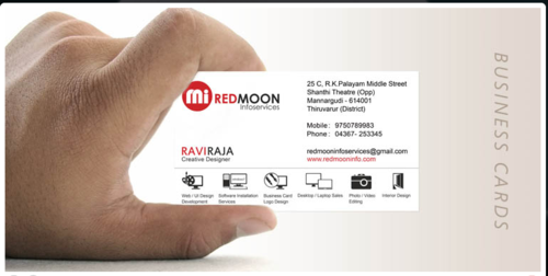 Red moon infoservices it technology services of business cards product image read more business cards services colourmoves