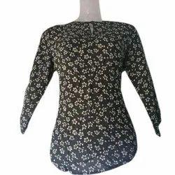 Hosiery Printed Ladies Western Top, Size: XS-XXL