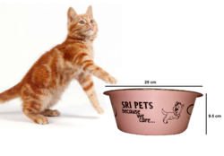 Pets Empire Stainless Steel Cat Feeding Bowl For Pet