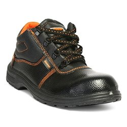 Hillson Black Leather Safety Shoe, Packaging Type: Box