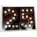 Polished Square 25th Anniversary Silver Coins Gift Set