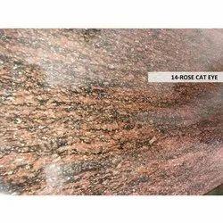 Polished Rose Cat Eye Granite Stone, Thickness: 18-20 mm