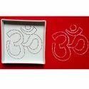 Om Dotted Rangoli Pattern