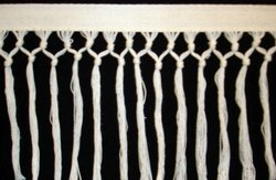 White Chainette Fringe