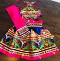 Kutch Embroidered Kids Chaniya Choli - Baby Girl Lehenga Choli - Navratri Wear Choli