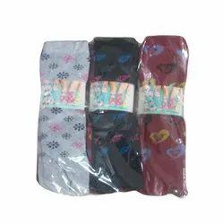 Cotton Mix colour as u want Ladies Printed Socks, Size: Free