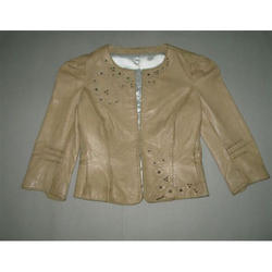 Beige Hand Painted Ladies Jackets