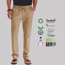 Gots Organic Cotton Mens Drawstring Trousers
