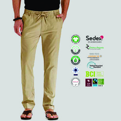 Gots Organic Cotton Mens Drawstring Trousers