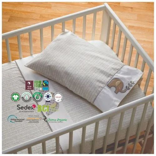 Baby Crib Sheet Bedding Organic Breathable Crib Sheet Manufacturer From Erode