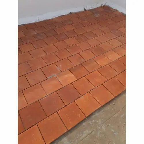 Flat Tile Polished Cooling Floor Clay Tiles Rs 17 Square Feet Sri Vijaya Lakshmi Tiles Id 19625545491