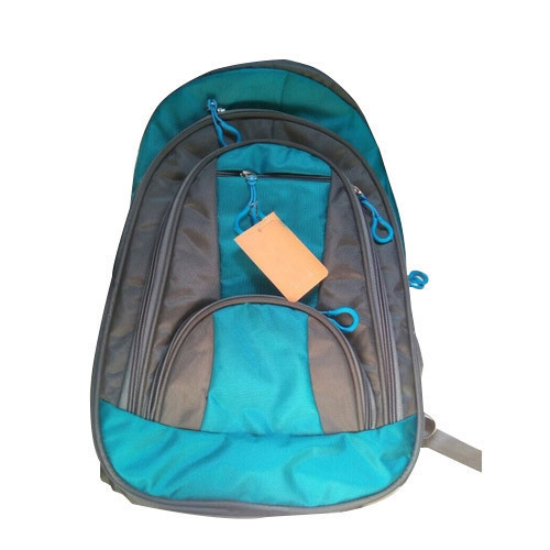 2785bbc5ba Polyester Sky Blue, Grey College Backpack, Rs 225 /piece   ID ...