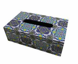 Wooden Square Tissue Box