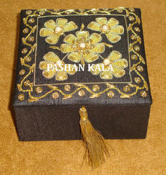 Zari Embroidered Jewelry Box