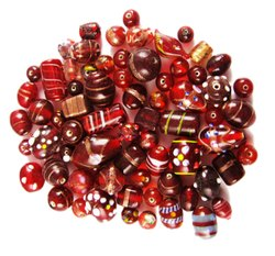 Eshoppee 1kg Mix Shape Fancy Designer Glass Beads Color Red Green Blue Orange Yellow Purple Etc