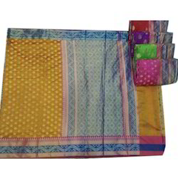 Party Wear Ethnic Cotton Saree, With Blouse Piece