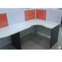 Orange And White Office Workstation