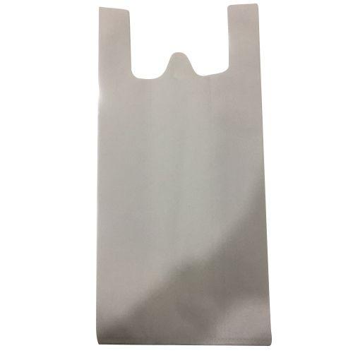WHITE W Cut Non Woven Carry Bag