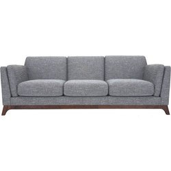Neptune Teak wood Three Seater Sofa, Living Room, 5 Inch