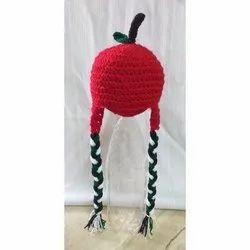Handmade Kids Apple Woolen Cap