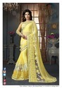 Chiffon Yellow Fancy Sarees
