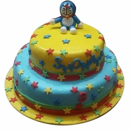 Doraemon Theme Birthday Cake at Rs 1400 kilogram Tribune Colony