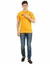 Mens Yellow Polo T Shirt