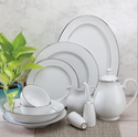 Alda Single Platinum 33 Pcs Dinner Set