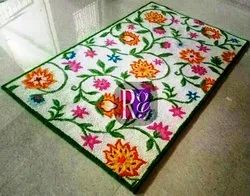 Printed Flower Design Rug