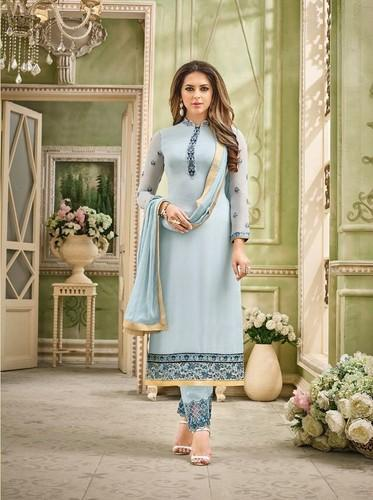 e887f556bd Georgette Embroidered Salwar Suits, Size: XL, Rs 1295 /piece | ID ...