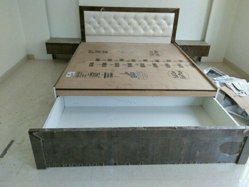Wooden Storage Double Bed, for Home