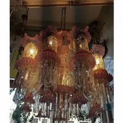Roof Mounted Glass Decorative Hanging Chandelier