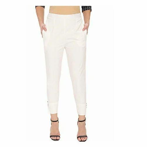 edac9d988e4fdf White Skinny Fit Ladies Cigarette Pants, Rs 195 /piece, Rich Look ...