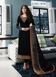 Churidar Semi-Stitched Latest Heavy Embroidered Fiona Straight Suit