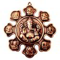 Brown Sng Copper Ganesha Hanging