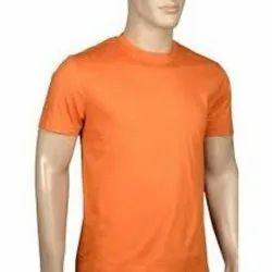 Boys Casual Wear Round neck orange T-shirt