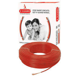 Red V Guard PVC Insulated Cables, 220 V