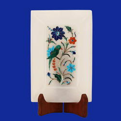 Marble Inlay Decor Tray