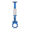 Pneumatic Operated Knife Edge Gate Valve  With Manual Override