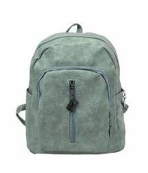 Light Green P.U  Leather Backpack