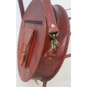 Round Shape Leather Bag