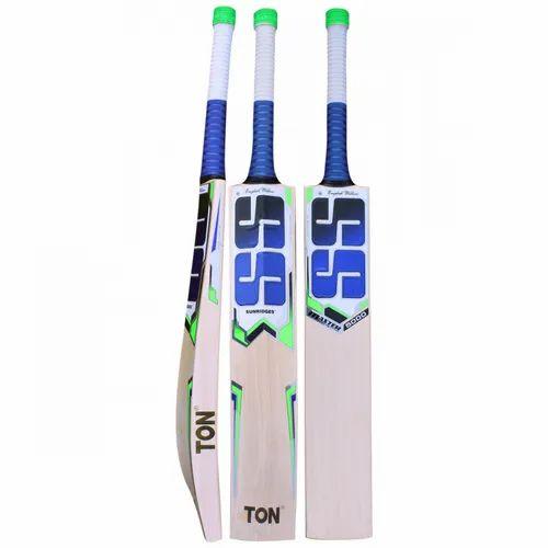 Wooden Long Handle Natural SS English Willow Cricket Bat