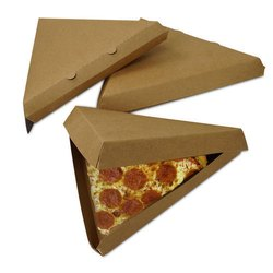 Triangle Shape Single Piece Pizza, sandwich, Cake Box