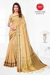 Designer Silk Cotton Check Saree