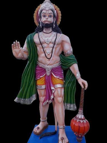 Multicolor Frp Fiber Hanuman Ji Statue Size 10 Foot Rs 15000
