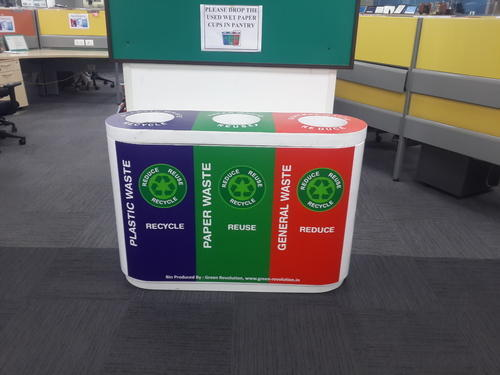Trio Color Coded Recycle Bin