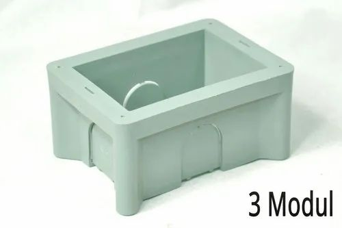 Gray 3 Modular PVC Concealed Box for Electric Fitting