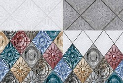 SakarMarbo Multicolor Ceramic Digital Wall Tile 420hl_lt_dk - 450X300 for Hotel